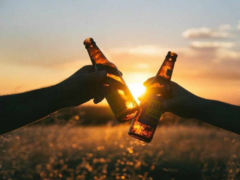 Bière en montagne